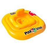 Надувной Круг - Baby Float Intex 56587 с отверстиями для ног и спинкой, 79х79 см.