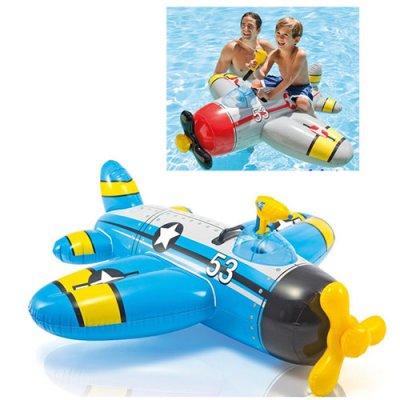 Детский надувной плотик 57537 Intex Самолет с водяным пистолетом.