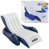 Надувное кресло - шезлонг Intex 58868 180 135 см.
