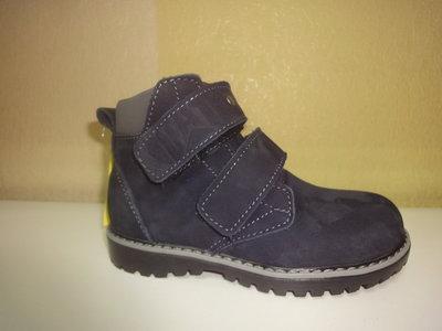 Кожаные утепленные ботинки 28 р. 18,5 см. CAT на мальчика, нубук, флисе, осенние, демисезон, шкіра