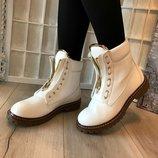 Женские белые ботинки Balmain