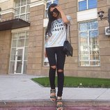 Новинка Женские стильные джинсы черные и белые