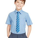 Фирменная рубашка Marks&Spencer на 12 лет рост 152см. с коротким рукавом.