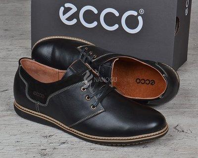 Туфли кожаные Ecco Европа мужские черные на шнуровке 40-45. Наложенный платеж. Фирменная упаковка.