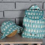 Детский рюкзак, ранец, портфель пингвины