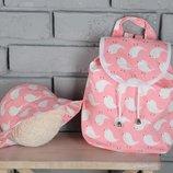 Детский рюкзак, ранец, портфель птички