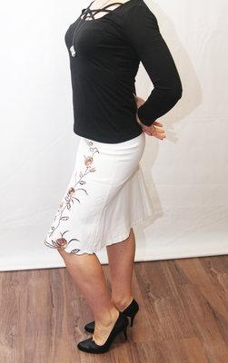bc90f7b6efb Белая этно Юбка Дешевая женская одежда