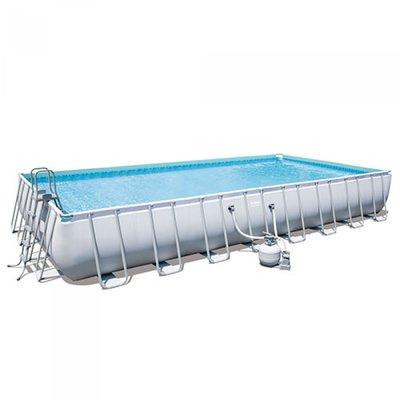 Каркасный бассейн Bestway 56623,песчаный фильтр, 956 × 488 × 132 см