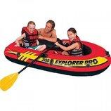 Лодка EXPLORER Pro 200 SET 2-местная с насосом и пластиковыми веслами Intex 58357