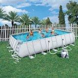 Каркасный бассейн Bestway с песочным фильтром 671х366х132см 56471