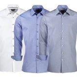 Классическая рубашка 100% хлопок Nobel League slim fit Германия р.39,40,41