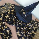 Платье карнавал девочке 11-14 лет с шляпой Хелоуин Ведьма