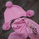 Шапка и шарфик девочке 3-5 лет