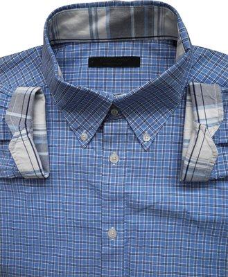 Мужская рубашка в клетку голубая синяя сочная Jack & Jones Premium XL L