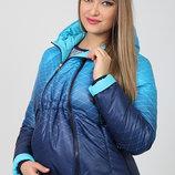 Демисезонная двухсторонняя куртка для беременных, аквамарин с бирюзой