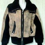 Куртка демисезонная с воротом, цвет коричневый, черный. Раз.48-50