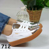 Акция Белые криперы ботинки кроссовки кеды под Puma Рианну