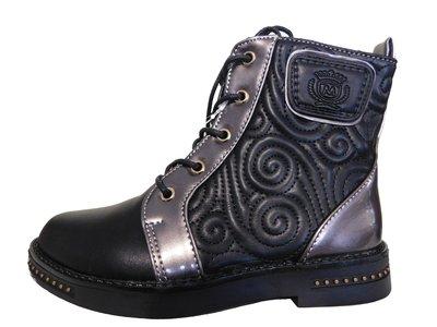 Черные ботинки на флисе для девочки