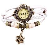 Винтажные женские часы-браслет с подвеской Снежинка