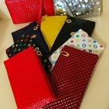 Сумка женская, цвет в ассортименте, кожзам, черная, синяя, косметичка, клатч, сумочка