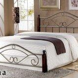 Кровать Dana 140 дерево/металл