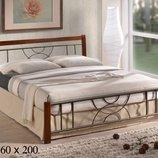 Ліжко Elza 160 дерев'яне на металічній основі
