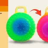 Мяч для фитнеса цвет радуга, гири с шипами 45см 350г ND103