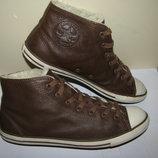 Ботінки брендові шкіра хутро Converse Оригінал р.40 стопа 25,5 см.