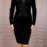 Платье миди,красивое приталенное платье