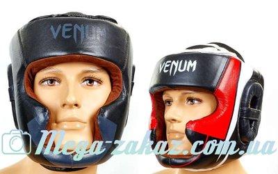 Шлем боксерский с полной защитой Venum 5239 шлем бокс , 2 цвета кожа, M/XL