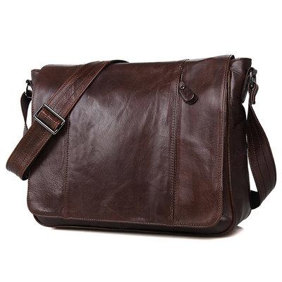 670592b88d3d Мессенджер 7338C натуральная кожа Бесплатная доставка мужская сумка через  плечо