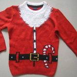 фирменный Next новогодний свитер.кофта 5-6л. 110-116см.
