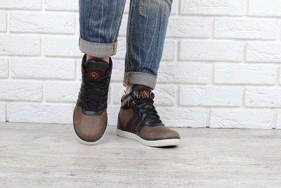 Высокие ботинки из натуральной кожи детские полуботинки коричневые на шнуровке Украина