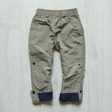 Стильные штаники для мальчика. Верх - плащевка. Внутри на тонкой подкладке. Magic. Размер 18 месяцев