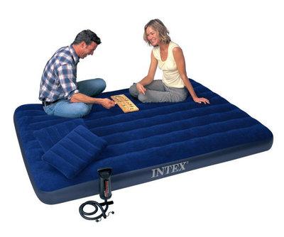 Матрас Интекс Intex 64765 набор 152 см с насосом и 2 подушки матрац