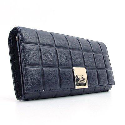 Кошелек женский на кнопке кожаный темно-синий Chanel 514-D  1020 грн ... ce4cf0a2280