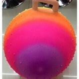 Мяч для фитнеса 55см гиря с шипами цвет радуга 350г ND107