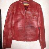шикарная кожаная куртка 48 р