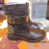 Демисезонные сапожки, ботинки 28р 18,5 см- осталась 1 пара