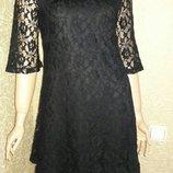 Платье кружевное трапеция размер 12
