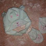 Деми набор шапка перчатки для девочки на 2-3 года