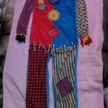 Карнавальный новогодний костюм клоуна, шута на 9-10лет George