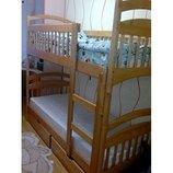 Двухъярусная кровать Карина с матрасами и с ящиками