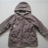 фирменная Toutcomptefait парка.демисезонная куртка.ветровка 5-6л. 110-116см.