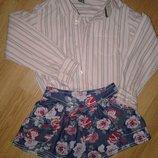 Модная джинсовая юбка шорты комплект