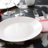Белые тарелки Люминарк