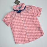 Новая нарядная рубашка Next c бабочкой
