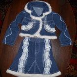 Джинсовый костюм на девочку