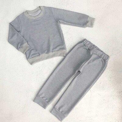 Спортивный однотонный костюм для мальчика или девочки