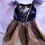 Карнавальное новогоднее платье волшебницы колдуньи 3-4года